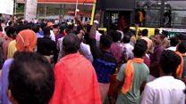 인도 힌두사원 여성 출입반대 시위