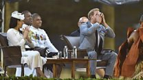 Prince Harry sips kava drink in Fiji
