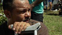 El reto de ser discapacitado en la caravana de migrantes centroamericanos