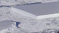 Диво природи: прямокутний айсберг