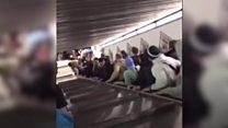 ローマの地下鉄駅で下りエスカレーターが暴走 20人以上負傷