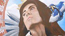 Artist paints Queen Eleanor mural