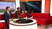 Richard Ashcroft leaps over Breakfast sofa