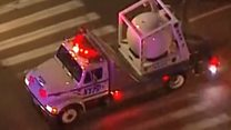 Bomb truck removes suspect package sent to De Niro