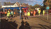 Tram-train derailed in Sheffield
