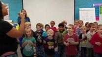Kindergartners' sign language surprise