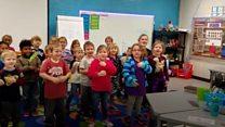 Kindergartners sign language surprise