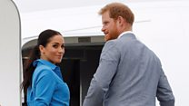 Meghan and Harry's plane aborts landing