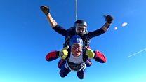 'My parachute failed but I'd do it again'