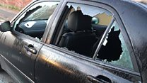 Man smashes car of murdered man's son
