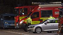 Helicopter 'spiralled out of control'