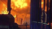 بالفيديو: تحطم طائرة مالك نادي ليستر سيتي الإنجليزي خارج الملعب