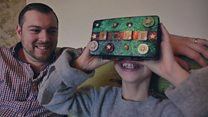 Dad creates VR world