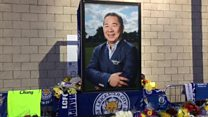 Sea of tributes to Leicester City owner