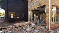 Cash machine torn from village bank