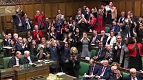 MPs clap and cheers pensioner protester