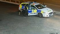 Police officer attacked by armed robber