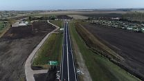 New city bypass captured by drone