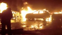 Italian storm destroys hundreds of cars
