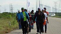 Caravana de migrantes: las reacciones de los centroamericanos que cruzan México a las amenazas de EE.UU.