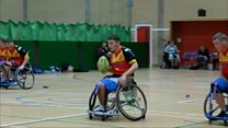 Teenage wheelchair rugby star