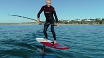 SUP hydrofoil soars 3ft above the waves