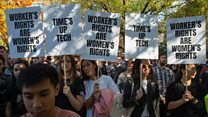 Google staff walk out of US offices