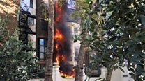 Fire near Saudi embassy in London