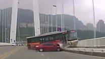 Fight on bus before fatal plunge