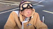 Chocks away - Woman, 100, fulfils flying ambition
