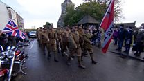 First WW1 volunteers' march recreated