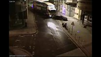 Runaway lorry captured on CCTV