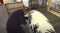 Artist creates personalised coffins