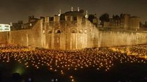 Tower of London lit up