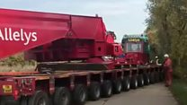 People line streets for 463-tonne delivery