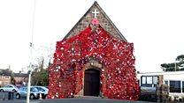 Global effort covers church in poppies