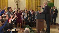 President Trump clash with CNN reporter