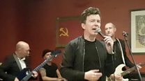 Rick Astley in surprise gig for students