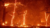 California rapid wildfire consumes homes