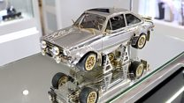 Dazzling Ford Escort made from diamonds
