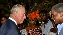 How did Prince Charles do with Pidgin speech?