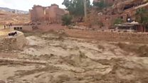 Moment deadly floods hit ancient city