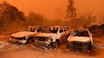 Fleeing through flames: 'I am so terrified'