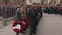 Armistice Day silence in Edinburgh