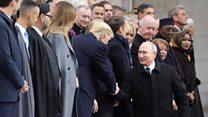 World leaders gather on Armistice Day