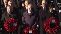 Silence at the Cenotaph and tributes on beaches