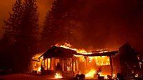 حرائق الغابات بشمال كاليفورنيا وجنوبها