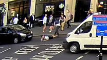 Police search for Blackfriars push suspect