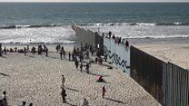 Llegan a EE.UU. los primeros migrantes de la caravana que partió de Honduras