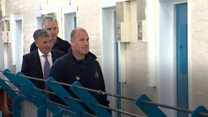 Ex-England footballer visits prison